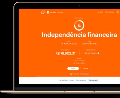macbook acessando o sistema da monetus